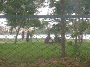The park at Madivala Lake
